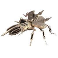 3D立体拼图金属不锈钢DIY拼装模型 大力士甲虫 独角仙 摆件 大力士甲虫(新品)
