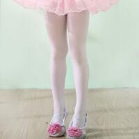 2018041202657儿童舞蹈袜白色连裤袜夏季女童打底袜丝袜小女孩天鹅绒练功袜薄款 白色