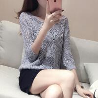 2018夏季新款韩版圆领纯色镂空针织衫套头长袖薄款宽松百搭上衣