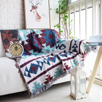北欧几何图案加厚沙发毯子沙发巾双人座垫全盖防滑线毯桌布地垫
