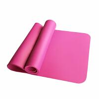 健身垫加长加厚15mm运动毯初学者仰卧起坐锻炼舞蹈瑜伽垫 粉红色 瑜伽垫+绑带+网包