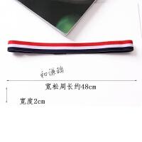 韩国运动发带潮男女头套健身头带发箍洗脸瑜伽跑步头巾头饰品 小号 黑白红