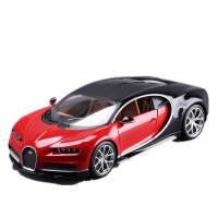1 :18布加迪威龙车模型仿真合金跑车金属汽车模型 布加迪 红色
