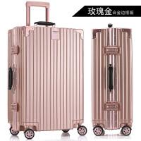 铝框旅行箱万向轮复古拉杆箱男行李箱20女学生密码皮箱子24寸28寸