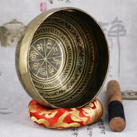 瑜伽装饰摆件尼泊尔手工佛音碗西藏颂钵音疗冥想碗铜钵盂老法器磬礼物SN6229