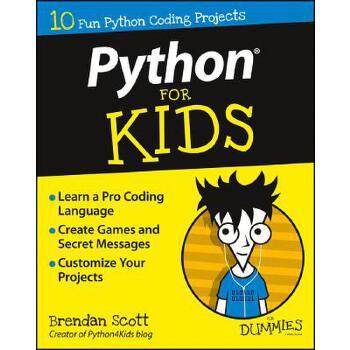 【预订】Python For Kids For Dummies