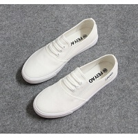 平底帆布鞋女鞋纯黑白色球鞋韩版学生休闲布鞋平跟一脚蹬懒人鞋春