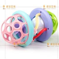 声光软胶健身球婴儿手抓球触觉感知球0-1岁宝宝抠洞洞玩具扣 声光软胶健身球