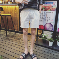 2018夏季男士休闲裤短裤纯色情侣装裤子沙滩裤韩版修身潮五分裤