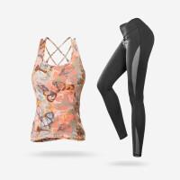 瑜伽服套装女秋冬健身运动性感背心带胸垫跑步上衣速干显瘦