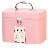 化妆包大容量小号便携手提化妆箱女韩版可爱方形旅行收纳包 化妆箱