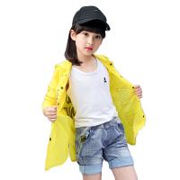 儿童夏季防晒服2017新款小女孩户外中长款休闲外套女童薄款防晒衣