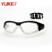 泳镜高清防雾大框电镀平光男女士防水游泳眼镜