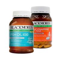 【网易考拉】【关爱父母】BLACKMORES 氨糖维骨力 180片+原味深海鱼油 400粒