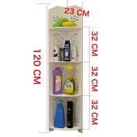 浴室置物架落地 卫生间转角架三角架防水厕所储物架子洗手间收纳架