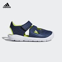 【4折价:147.6元】阿迪达斯(adidas)新款童鞋男童户外包头魔术粘儿童凉鞋CQ0082 学院蓝