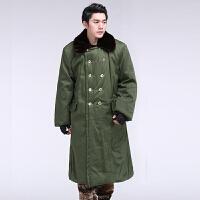 军大衣 棉大衣男冬季加厚长款保安大衣黄防寒服军绿棉袄 军绿色