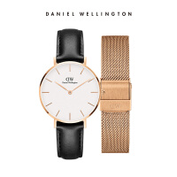 Danielwellington丹尼尔惠灵顿DW女士皮带手表金属表带礼盒套装