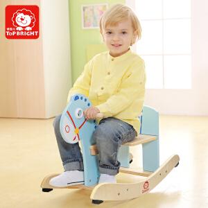 特宝儿 儿童木马摇马宝宝玩具摇摇马小木马摇椅 1岁孩子礼物儿童玩具