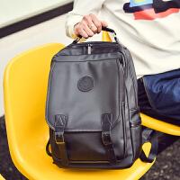 日韩双肩包男韩版休闲潮流时尚背包学生书包男士旅行包电脑包潮包
