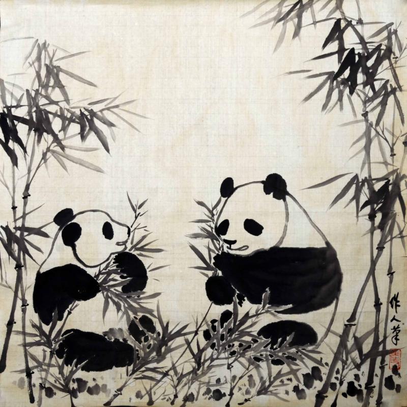 L84吴作人《双熊猫》