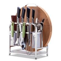 放筷子刀具的置物架刀架多用不锈钢厨房用品创意用多功能放菜刀架子筷笼一体