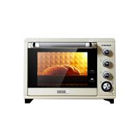 柏翠(petrus)电烤箱38L家用烘焙多功能全自动智能PE5400 简米白
