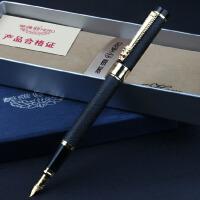 英雄 Hero 高级铱金笔 礼品笔 明尖钢笔 6006 龙头绒砂金夹 钢笔/美工笔 弯尖