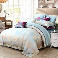 家�床上四件套1.8m床�棉��s被套�p人床�W式2.0m提花全棉床上用品