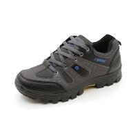 春夏登山鞋透气运动旅游鞋男户外徒步鞋实心轻便防滑爬山越野跑鞋