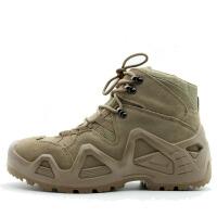 中帮户外登山鞋军迷靴男式徒步鞋耐磨防刺防水透气内衬