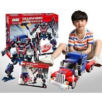 儿童益智变形金刚拼装积木擎天柱机器人汽车6-12岁男孩