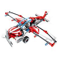 儿童积木玩具 滑翔机飞机拼装积木玩具机械飞机模型男孩儿童礼盒装生日礼物 701301