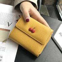 真皮折叠钱包女短款软皮卡包一体小巧大容量精致高档多卡位ins潮