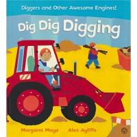 Dig Dig Digging 挖掘机快挖 垃圾车 救援直升机科普 幼儿英语绘本 韵文 儿童睡前故事亲子读物 英文原版进