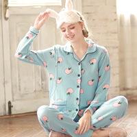 梦蜜 空气棉孕妇家居服秋季产妇月子服 秋冬保暖哺乳睡衣产后喂奶服