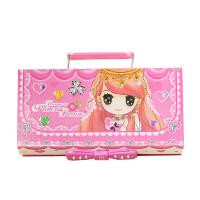 密码锁文具盒三层多功能可爱小学生男女孩韩国版铅笔盒大容量