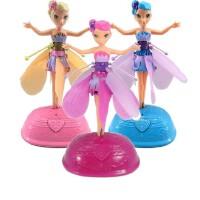 梦幻美丽飞仙女 自动感应飞天小仙女 芭比娃娃时尚公主儿童玩具 儿童节礼物