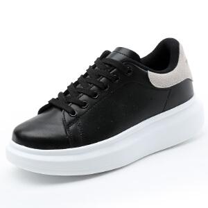 Mr.zuo2017新款小白鞋女系带板鞋厚底韩版白色运动休闲鞋