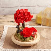 ????精品小王子小熊玫瑰花保鲜花礼盒创意520情人节礼物摆件