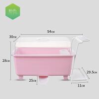 新款厨房带盖放碗箱晾碗架 沥水碗柜碗盒 餐具收纳盒 整理架 橱柜碗碟筷收纳架装碗箱