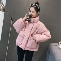 原宿棉衣女短款面包服冬装学生韩版加厚羽绒宽松立领棉袄