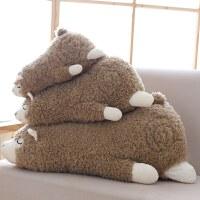 可爱羊驼公仔女孩小羊毛绒玩具床上睡觉抱枕头萌玩偶娃娃生日礼物按摩