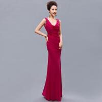 晚礼服20新款长款女主持性感鱼尾表演服结婚聚会晚装 婚礼韩版 适合19-21腰围