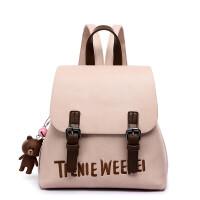 书包中学生背包可爱百搭校园双肩包女包旅行潮包 粉色