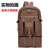 超大容量复古帆布双肩包男行李包户外登山包女旅游包休闲运动背包