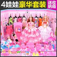 芭芘娃娃套装大礼盒女孩别墅甜甜屋城堡房子白雪公主生日玩具