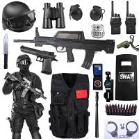 儿童电动玩具枪套装小特警全套cos套装备小警察装备男孩生日礼物 全副武装+电动连发95+对讲机 3-5岁(背心尺寸)