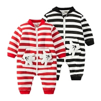 婴儿连体衣服男女宝宝新生儿哈衣秋冬季8冬童装2秋季0岁3个月满月