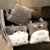 抱枕被子两用办公室午睡枕神器可爱毯子三合一汽车靠垫靠枕空调被